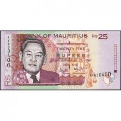Maurice (île) - Pick 49b - 25 rupees - Série AV - 2003 - Etat : NEUF