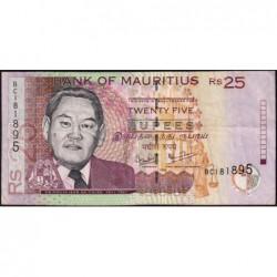 Maurice (île) - Pick 49c - 25 rupees - Série BC - 2006 - Etat : TB