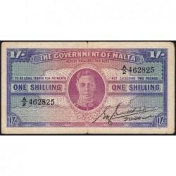 Malte - Pick 16 - 1 shilling - Série A/2 - 1943 - Etat : TB