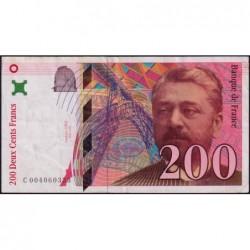F 75-01 - 1995 - 200 francs - Eiffel - Série C - Etat : TB+