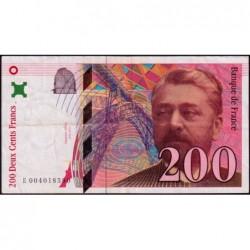 F 75-01 - 1995 - 200 francs - Eiffel - Série E - Etat : TTB-