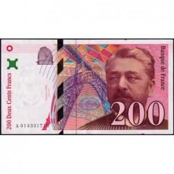 F 75-02 - 1996 - 200 francs - Eiffel - Série A - Etat : SUP