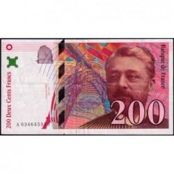 F 75-02 - 1996 - 200 francs - Eiffel - Série A - Etat : TTB
