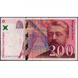 F 75-02 - 1996 - 200 francs - Eiffel - Série B - Etat : TB+