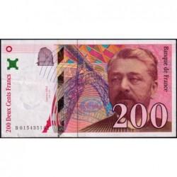F 75-02 - 1996 - 200 francs - Eiffel - Série B - Etat : TTB