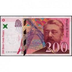 F 75-02 - 1996 - 200 francs - Eiffel - Série C - Etat : TTB