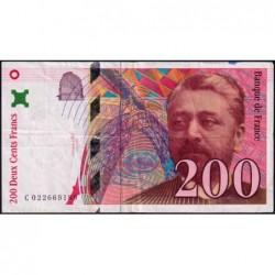F 75-02 - 1996 - 200 francs - Eiffel - Série C - Etat : TB