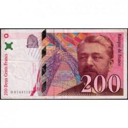 F 75-02 - 1996 - 200 francs - Eiffel - Série D - Etat : TB