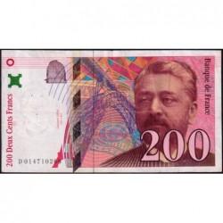 F 75-02 - 1996 - 200 francs - Eiffel - Série D - Etat : TB+