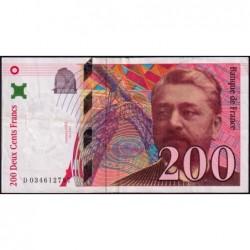 F 75-02 - 1996 - 200 francs - Eiffel - Série D - Etat : TTB-