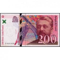 F 75-02 - 1996 - 200 francs - Eiffel - Série F - Etat : SUP