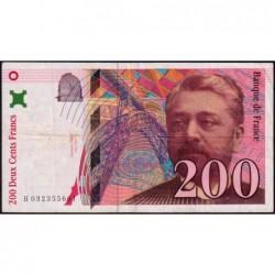 F 75-02 - 1996 - 200 francs - Eiffel - Série H - Etat : TB+