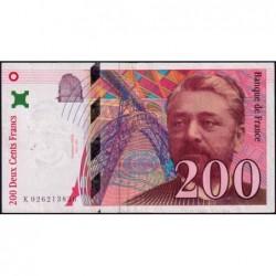 F 75-02 - 1996 - 200 francs - Eiffel - Série K - Etat : TTB