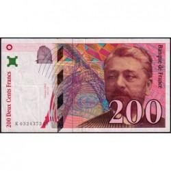 F 75-02 - 1996 - 200 francs - Eiffel - Série K - Etat : TB+