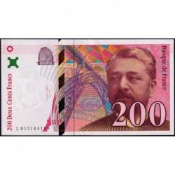 F 75-02 - 1996 - 200 francs - Eiffel - Série L - Etat : SUP+