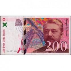 F 75-02 - 1996 - 200 francs - Eiffel - Série N - Etat : TTB