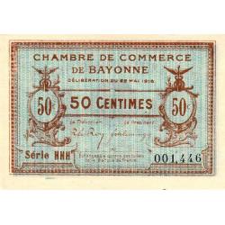 Bayonne - Pirot 21-24 - 50 centimes - Série HHH - 22/05/1916 - Etat : SUP+