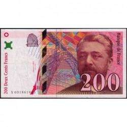 F 75-02 - 1996 - 200 francs - Eiffel - Série N - Etat : TB+