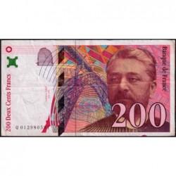 F 75-02 - 1996 - 200 francs - Eiffel - Série Q - Etat : TB