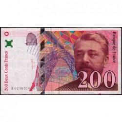 F 75-02 - 1996 - 200 francs - Eiffel - Série R - Etat : TB