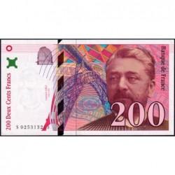 F 75-02 - 1996 - 200 francs - Eiffel - Série S - Etat : SUP