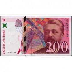 F 75-02 - 1996 - 200 francs - Eiffel - Série T - Etat : SPL