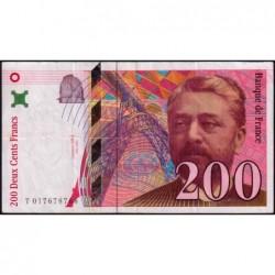 F 75-02 - 1996 - 200 francs - Eiffel - Série T - Etat : TB+