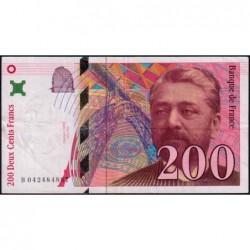 F 75-03a - 1996 - 200 francs - Eiffel - Série B - Etat : TTB