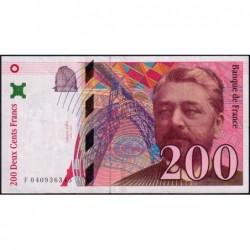 F 75-03a - 1996 - 200 francs - Eiffel - Série F - Etat : TTB+