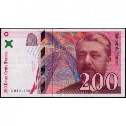 F 75-03a - 1996 - 200 francs - Eiffel - Série G - Etat : TTB