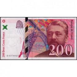 F 75-03a - 1996 - 200 francs - Eiffel - Série H - Etat : TTB