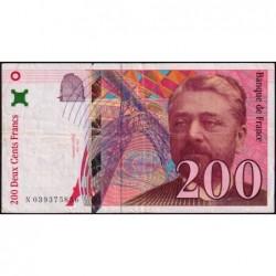 F 75-03a - 1996 - 200 francs - Eiffel - Série N - Etat : TB