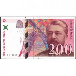 F 75-02 - 1996 - 200 francs - Eiffel - Série L - Etat : TTB-
