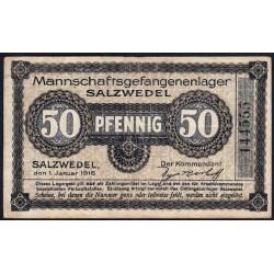 Allemagne - Camp de prisonniers - Salzwedel - 50 pfennig - 01/01/1916 - Etat : TTB