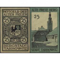 Pologne - Notgeld - Tarnowitz (Tarnowskie Gory) - 25 pfennig - 1922 - Etat : NEUF