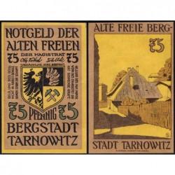 Pologne - Notgeld - Tarnowitz (Tarnowskie Gory) - 75 pfennig - 1922 - Etat : NEUF