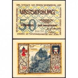 Allemagne - Notgeld - Westerburg - 50 pfennig - 1920 - Etat : SPL+