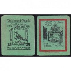 Allemagne - Notgeld - Trappstadt - 25 pfennig - 31/12/1920 - Etat : NEUF