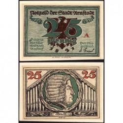 Allemagne - Notgeld - Arnstadt - 25 pfennig - Lettre A - 1921 - Etat : pr.NEUF