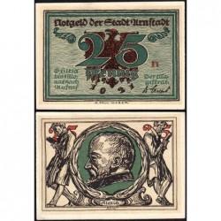 Allemagne - Notgeld - Arnstadt - 25 pfennig - Lettre n - 1921 - Etat : pr.NEUF