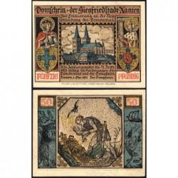 Allemagne - Notgeld - Xanten - 50 pfennig - 01/10/1921 - Etat : NEUF