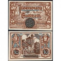 Allemagne - Notgeld - Ilsenburg - 10 pfennig - 01/06/1921 - Etat : pr.NEUF