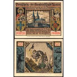Allemagne - Notgeld - Würzburg - 50 pfennig - 1919 - Etat : SUP