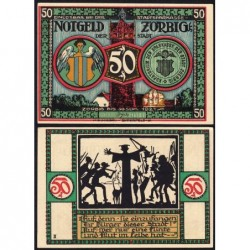 Allemagne - Notgeld - Zörbig - 50 pfennig - Série III - 1921 - Etat : SPL+