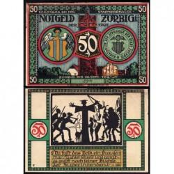 Allemagne - Notgeld - Zörbig - 50 pfennig - Série IV - 1921 - Etat : TTB