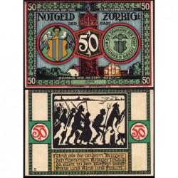 Allemagne - Notgeld - Zörbig - 50 pfennig - Série V - 1921 - Etat : SUP
