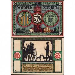 Allemagne - Notgeld - Zörbig - 50 pfennig - Série VII - 1921 - Etat : SPL+