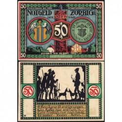 Allemagne - Notgeld - Zörbig - 50 pfennig - Série VIII - 1921 - Etat : SPL+