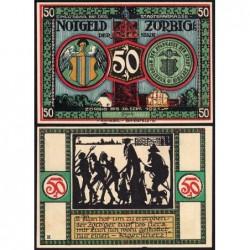 Allemagne - Notgeld - Zörbig - 50 pfennig - Série IX - 1921 - Etat : SPL+