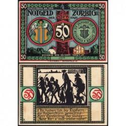 Allemagne - Notgeld - Zörbig - 50 pfennig - Série X - 1921 - Etat : SUP